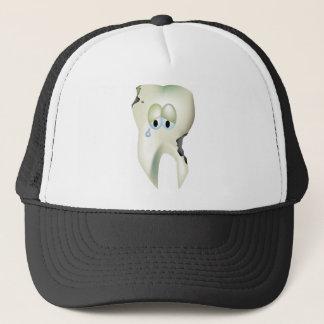 Boné Dentista engraçado dos desenhos animados tristes
