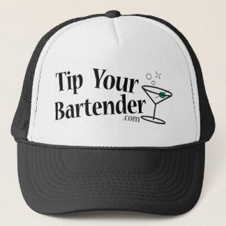 Boné Derrube seu chapéu de Martini do barman