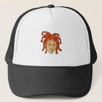 Boné Desenho da cabeça do bobo da corte da corte