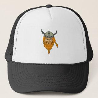Boné Desenho da cabeça do guerreiro de Viking do
