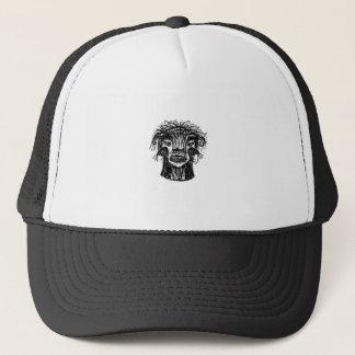 Boné Desenho da cabeça do monstro da fantasia