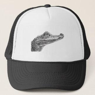 Boné Desenho da tinta do crocodilo do bebê