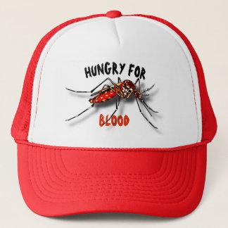 Boné Desenho engraçado preto vermelho legal do mosquito