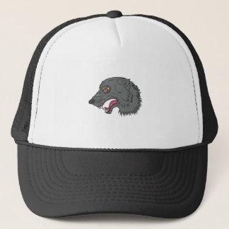 Boné Desenho principal da rosnadura do lobo cinzento