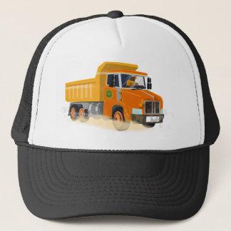Boné Desenhos animados amarelos do camião basculante