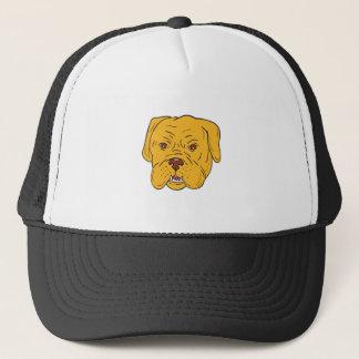 Boné Desenhos animados da cabeça de cão do Bordéus