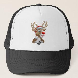 Boné Desenhos animados da rena do Natal com chapéu do
