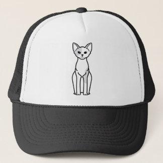 Boné Desenhos animados do gato de Devon Rex