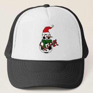 Boné Desenhos animados engraçados do Natal do boneco de