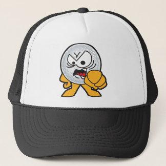 Boné Desenhos animados irritados da bola de golfe