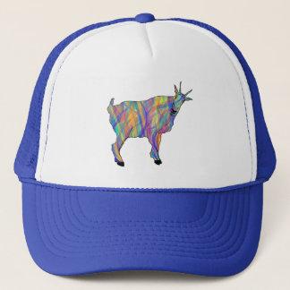Boné Design animal da arte da cabra engraçada colorida