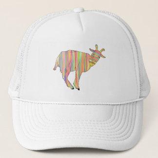 Boné Design animal da arte engraçada colorida Stripy da
