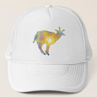 Boné Design animal engraçado da cabra colorida amarela