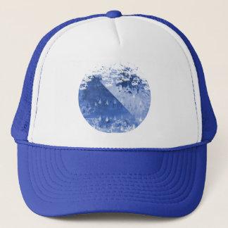 Boné Design azul abstrato das gotas da chuva