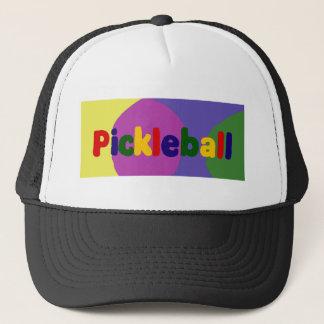 Boné Design colorido da arte das letras de Pickleball
