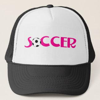Boné Design cor-de-rosa da bola de futebol