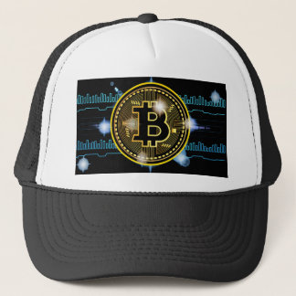 Boné Design cripto do gráfico da moeda de Bitcoin