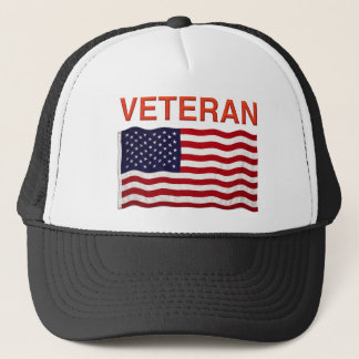 Boné Design da bandeira americana e do VETERANO em