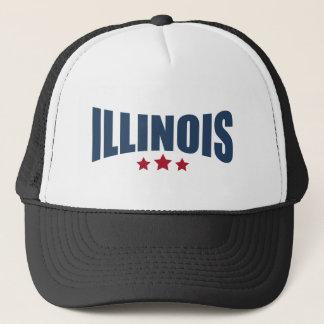Boné Design das estrelas de Illinois três