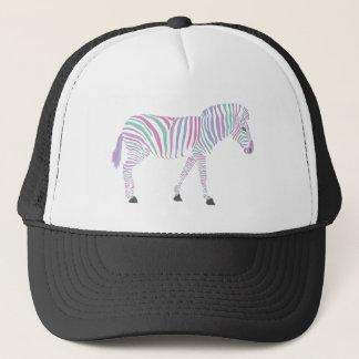 Boné Design do boné/chapéu do camionista da zebra por