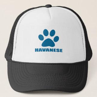 BONÉ DESIGN DO CÃO DE HAVANESE