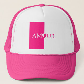 Boné Design do rosa do amor do CASO AMOROSO