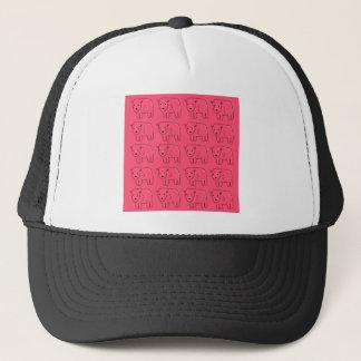 Boné Design doce cor-de-rosa pintado ursinhos