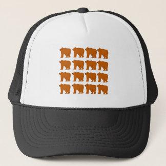 Boné Design dos ursinhos no branco