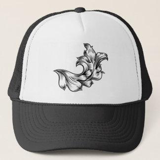Boné Design filigrana floral da heráldica do rolo do