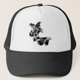 Boné Design filigrana floral heráldico do rolo do teste
