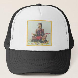 Boné Design floral da meditação de Sha Davis