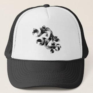 Boné Design floral heráldico filigrana do rolo do teste
