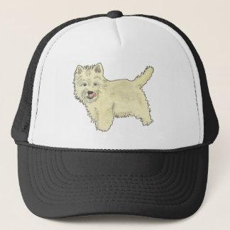 Boné Design ocidental bonito da pintura da arte do cão