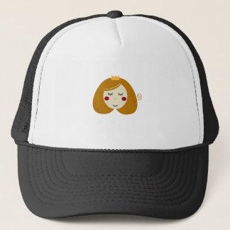 Boné Design pequeno da princesa no branco