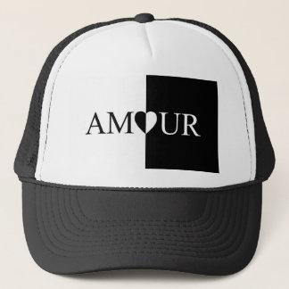 Boné Design preto e branco do amor do CASO AMOROSO