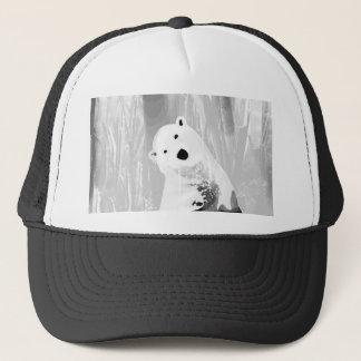 Boné Design preto e branco original do urso polar