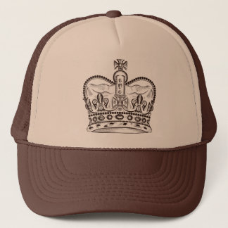 Boné Design real com a coroa no estilo do vintage