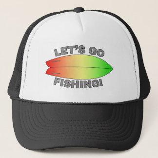 Boné Design retro da prancha dos peixes