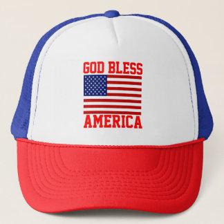 Boné Deus abençoe patrióticos América da bandeira