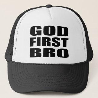 Boné DEUS cristão PRIMEIRO BRO do roupa