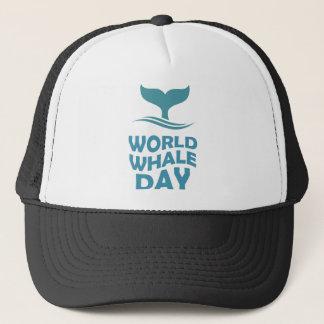 Boné Dia da baleia do mundo - 18 de fevereiro - dia da