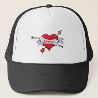 Boné Dia das mães feliz no tatuagem do coração