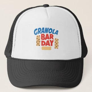 Boné Dia do bar de Granola - dia da apreciação