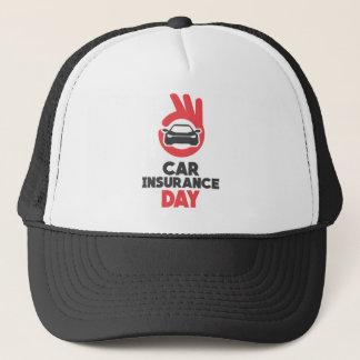 Boné Dia do seguro de carro - dia da apreciação