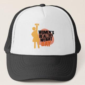 Boné Dia saudável do peso das mulheres - dia da