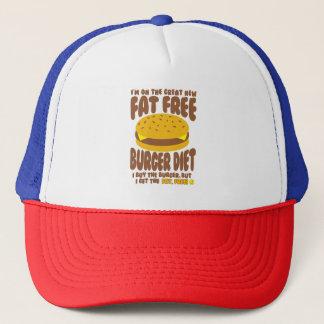 Boné Dieta livre de gordura do hamburguer