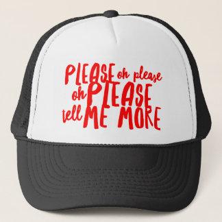 Boné Diga-me por favor um chapéu mais feito sob