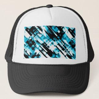 Boné Digitalart abstrato azul do chapéu e preto quente