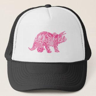 Boné Dinossauro cor-de-rosa para o parque jurássico e o