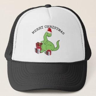 Boné Dinossauro engraçado bonito do papai noel do Natal